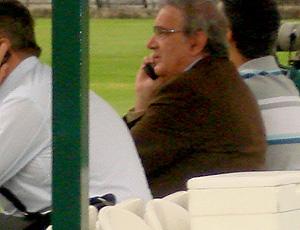 Presidente palmeirense Luiz Gonzaga Belluzzo na Academia de Futebol