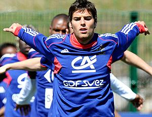Gourcuff no treino da França