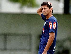 Paulo Henrique Ganso no treino do Santos