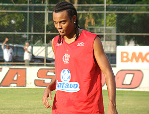 Ramon durante o treino do Flamengo