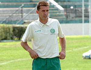 Vagner Mancini no treino do Guarani