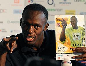 Bolt em coletiva de imprensa