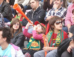 Vuvuzela na  torcida Portugal