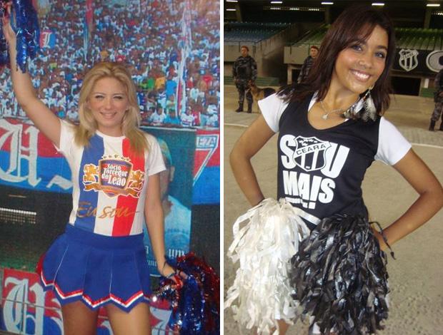 Dançarinas do Fortaleza e Ceará