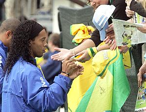 Treinos bagunçados da seleção Brasileira em Weggis 2006