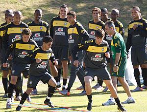 treino da seleção brasileira na África do Sul