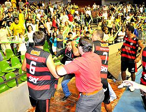 Confusão Flamengo x Brasília, nbb