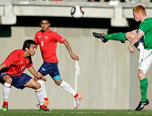 Fierro em lance de jogo pela seleção do Chile