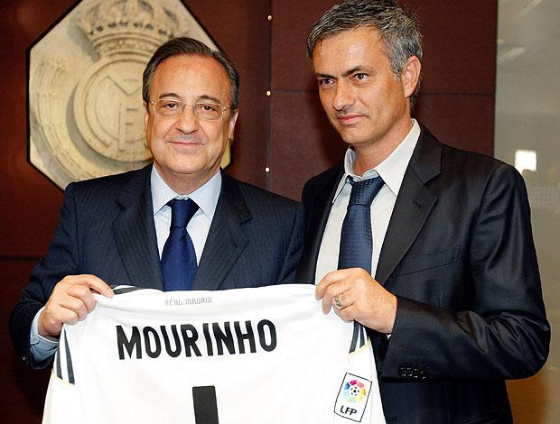 José Mourinho na apresentação como novo técnico do Real Madrid