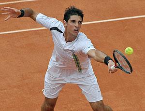 Thomaz Bellucci na partida contra Nadal em Roland Garros