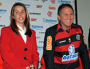 Zico durante coletiva de apresentação do Flamengo