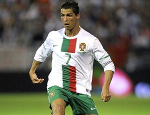 Cristiano Ronaldo no amistoso de Portugal (Foto: AFP)