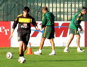 Kaká no treino do Brasil