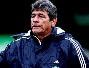 Parraga no treino do Palmeiras