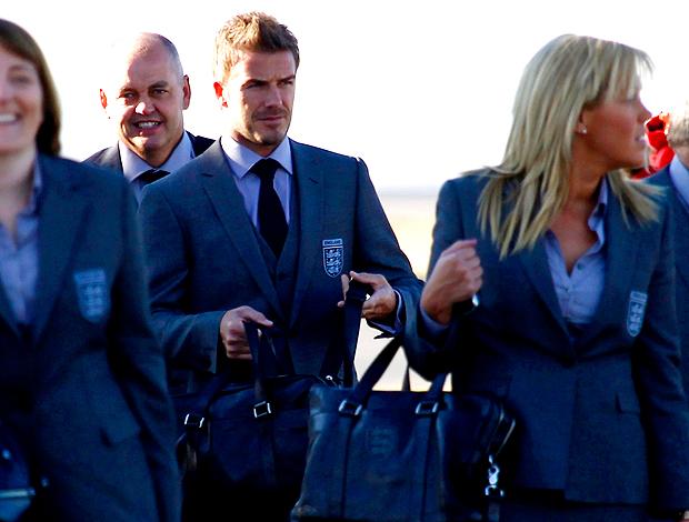 Beckham, da seleção da Inglaterra, desembarca na África do sul