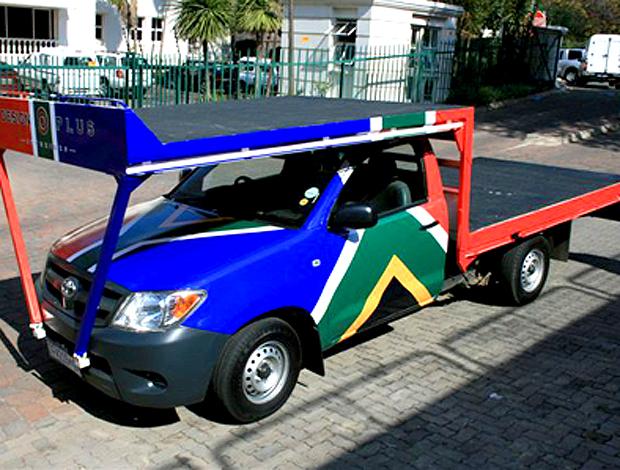 carro pintura bandeira da áfrica do sul