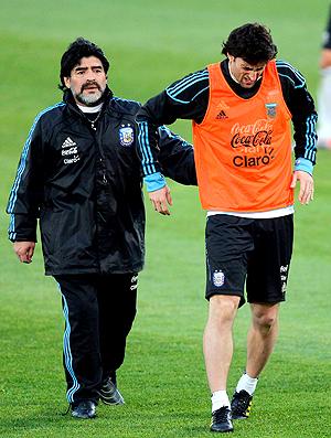 Maradona e Diego Milito