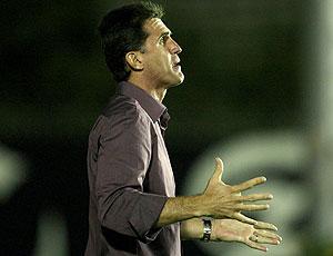 Vagner Mancini, técnico do Guarani, no jogo contra o Vasco