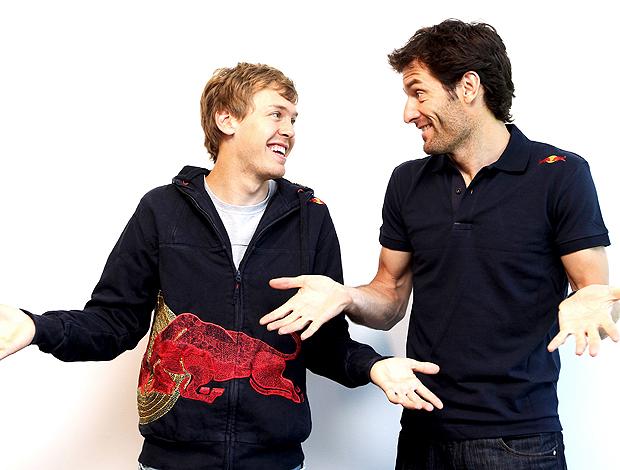 Sebastian Vettel e Mark Webber RBR selam a paz (Foto: Get Images)