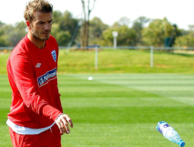 Beckham treino junto com os jogadores da seleção da inglaterra