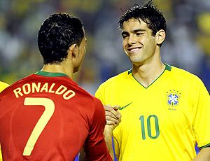 kaka e cristiano ronaldo, brasil portugal