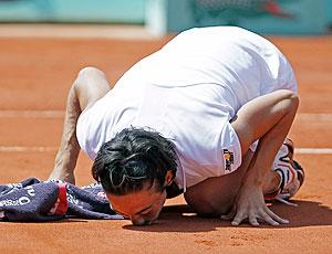 Francesca Schiavone tênis Roland Garros semifinal beijo