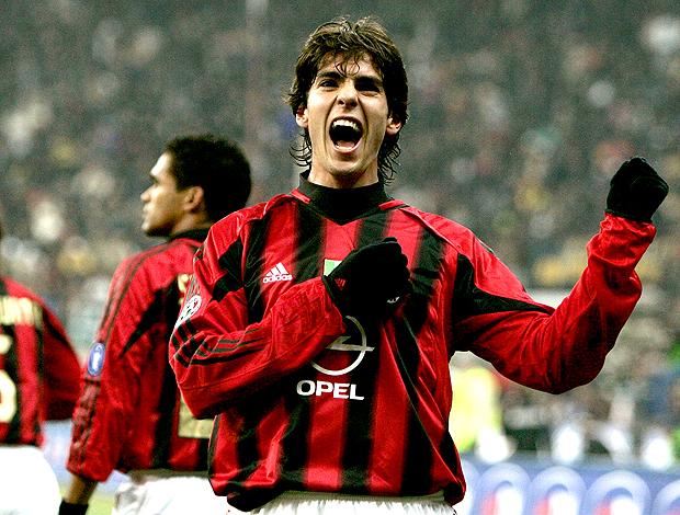 Kaká em ação pelo Milan