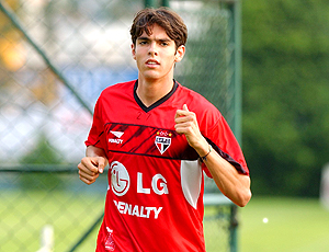 Kaká no treino do São Paulo