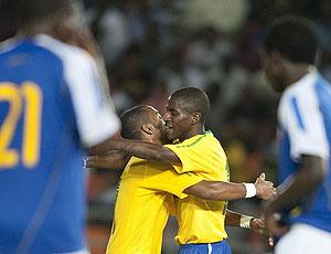 Ramires comemora gol amistoso Tanzânia