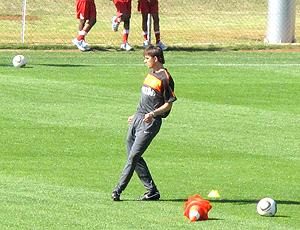 Philip Cocu no treino da Holanda