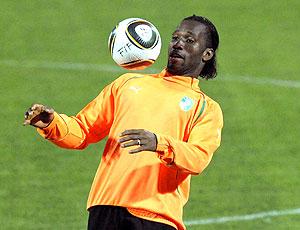 Drogba treino Costa do Marfim