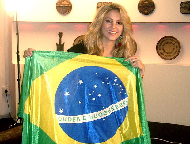 Shakira bandeira do Brasil