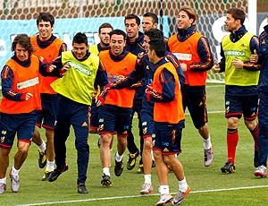 jogadores espanha treino