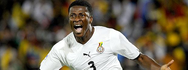 Asamoah Gyan comemoração Gana