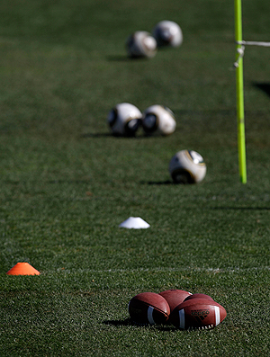 bola futebol americano méxico treino