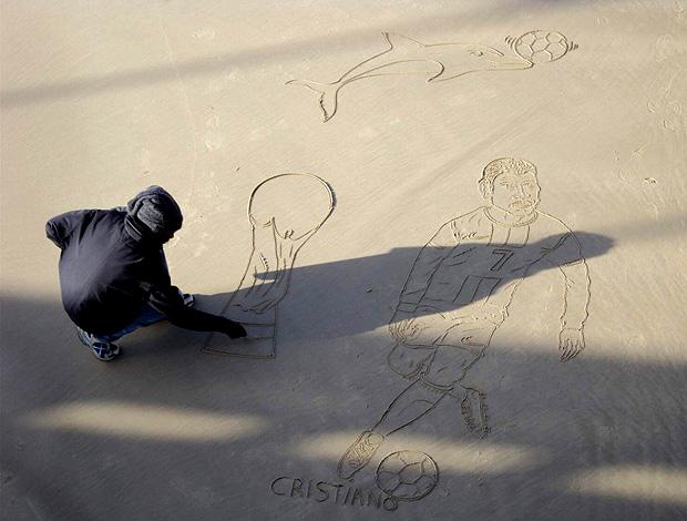 cristiano ronaldo areia  cidade porto elizabeth