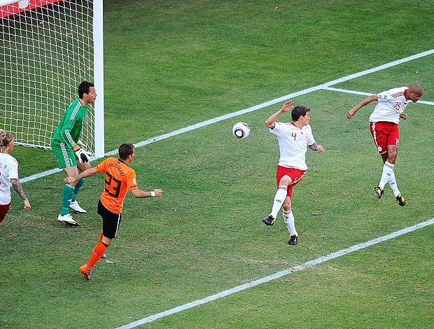 gol contra Dinamarca jogo  Holanda