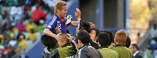 Keisuke Honda comemoração Japão contra Camarões