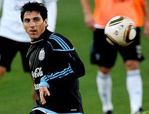 Nicolas Burdisso treino Argentina