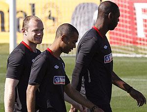 Rooney no treino da Inglaterra