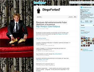 reprodução Twitter diego Forlan uruguai