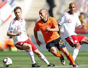 Wesley Sneijder jogo Holanda contra Dinamarca