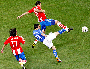 Zambrotta jogo Itália contra Paraguai