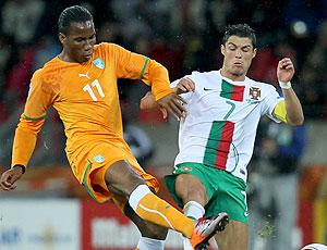 Drogba jogo Costa do Marfim contra Portugal