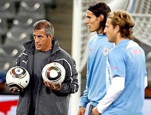 Oscar Tabarez técnico treino Uruguai
