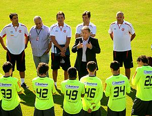 Zico treino Flamengo conversa com os jogadores