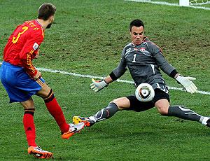 Gerard Pique jogo Espanha contra Suíça