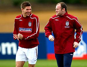 Gerrard rooney inglaterra treino