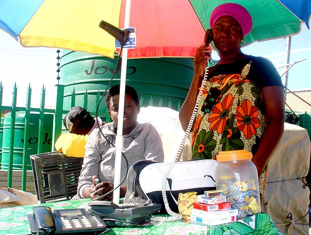 Aluguel de telefones na África do Sul