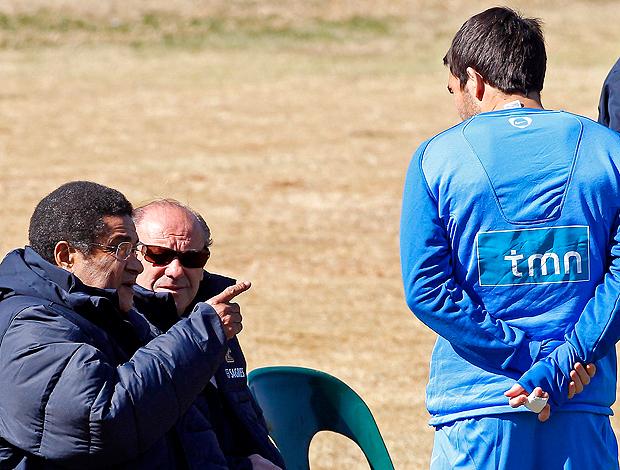 Eusébio no treino de Portugal